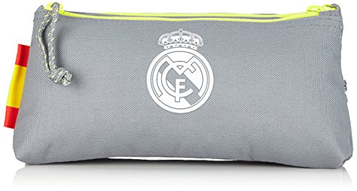 Safta Real Madrid Neceser Doble Pequeño, Color Gris
