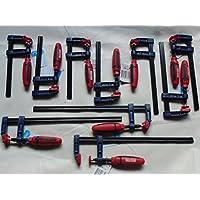 10 tlg Schraubzwingen Set SZ 50x 150-200-300mm mit Kunststoffgriff Leimzwinge