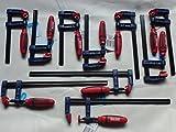 10 tlg. Schraubzwingen Set SZ 50x 150-200-300mm mit Kunststoffgriff Leimzwinge