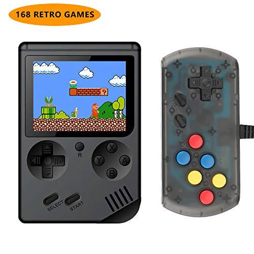 welltop Console de Jeu Portable, Gameboy Portable avec 168 écran Classique de 3 Pouces, PC de Poche Support de Jeu Rechargeable Console de Jeu Sortie Anniversaire pour garçons Filles Hommes