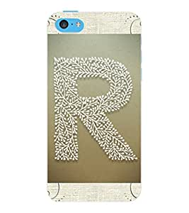 "ColourCraft Alphabet ""R"" Design Back Case Cover for APPLE IPHONE 5C"