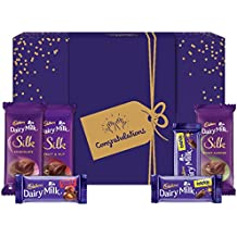 Cadbury Assorted Chocolates Gift Box with Congratulations Messaging Sleeve, 278 gm