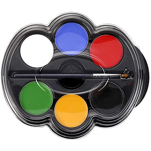Kinderschminke Set, 6 Farben, Hochwertiges Face Paint für Kinder Partys, Fasching, Halloween (1#)