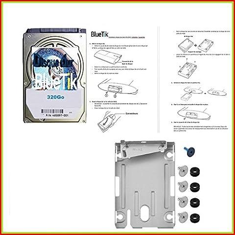 Disque Dur 320Go + Support Disque Dur Pour Playstation Ps3 Slim - PS3 Ultra Slim tout modèle + avec notice de montage en français (320Go)