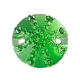 SiAura Material 25x Harz Strass Aufnähsteine 16mm hellgrün rund