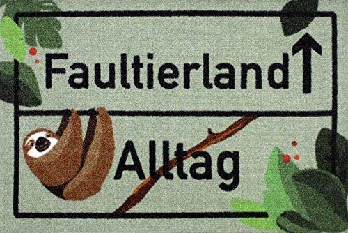 Close Up Faultierland Fußmatte - Faultier Schmutzfangmatte - 60 x 40 cm