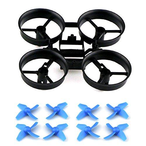GEEDIAR® Original JJRC H36 Drohne Ersatzteile Propeller Stützen mit Rahmen für JJRC H36 Eachine E010 und Blade Inductrix Micro Drone