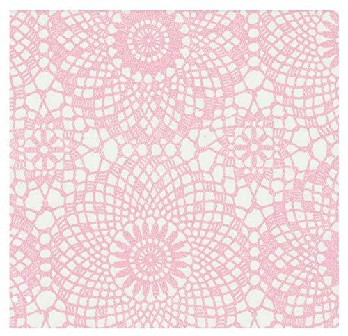 i.stHOME Klebefolie - Möbelfolie - Spitze rosa Weiss 45 x 200 cm - Vintage Dekorfolie selbstklebend, Selbstklebende Folie für Möbel, Küche und Kinderzimmer, Bastelfolie