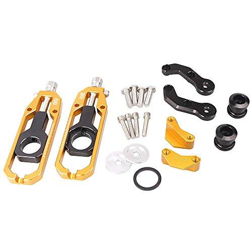 gzyf de chaîne de moto adulte réglable pour Kawasaki ZX10R 2011–2015en aluminium Or