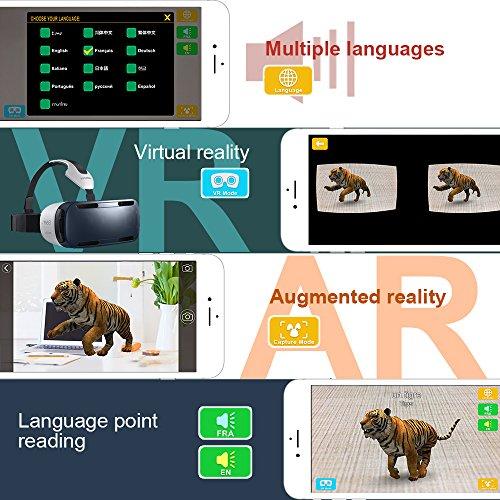 Flashcards-Tarjetas-Educativas-AR4D-Tarjetas-de-Aprendizaje-Juego-de-Tarjetas-Educativo-de-Animales-Soporte-de-Modo-VR-con-13-Idiomas-para-Nios-de-Hasta-6-Nios-68-piezas