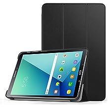 MoKo Samsung Galaxy Tab A (2016) with S Pen Funda - Ultra Slim Lightweight Función de Soporte Protectora Plegable Smart Cover Durable (Auto Sueño / Estela) para Samsung Galaxy Tab A 10.1 Inch (SM-P580 / SM-P585) Tablet 2016 de Lanzamiento, Negro
