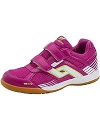 Pro Touch niños zapatillas de interior botas de fútbol de deportes de interior zapatos Velcro, rosa, 4