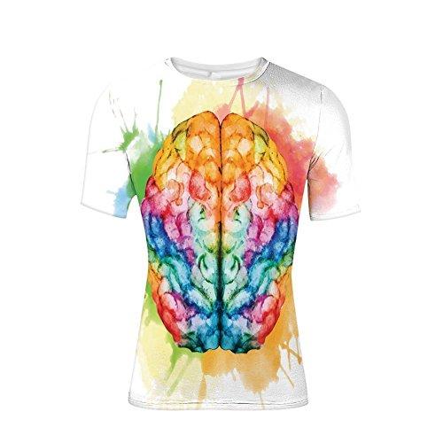 Camiseta con cerebro colorido