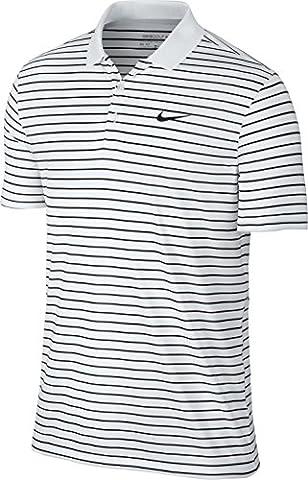 Nike Victory LC-Mini Stripe Polo à manches courtes pour homme M Blanc/noir/gris