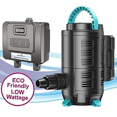 All Pond Solutions pompe de remontée AQUAFLO-V réglable à distance pour décante d'aquarium