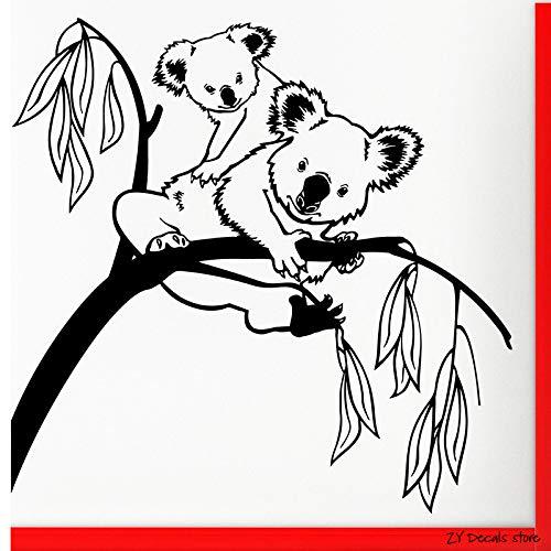 zqyjhkou Decalcomanie della Parete dell'albero Cute Koala Wall Sticker per Camera da Letto Infermiera del Fumetto Baby Room Vinyl Decor Decal Rimovibile Art Mural L415 42x43 cm