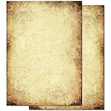Papel de carta – Hojas estampadas PAPEL VIEJO 100 hojas DIN A6