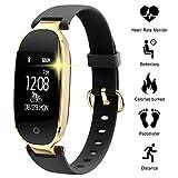 Bluetooth Smartwatch, Fitness Tracker Armband-uhr Wasserdicht Intelligente Armband Sport Uhren Schrittzähler Herzfrequenzmesser Schlaftracker für iPhone X,iPhone 7/7 Plus/8/8 Plus, Samsung S8/S8 Plus/S9/S9 Plus, Huawei P20, Xiaomi Andere Smartphone (Schwarz-02)
