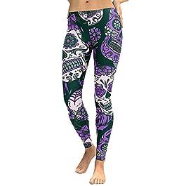 Damark Leggins Sportivi Donna Vita Alta Yoga Legging Donna Sportivi Donna Opaco Fitness Pantaloni Palestra Tuta Skinny…