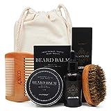 Cosmetf Baño de la barba Crema de bigote Set de aceite de barba Acondicionador Bálsamo de la barba...