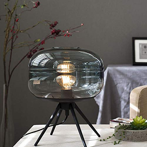 Energiespar-Leuchte,Schlafzimmer Tischlampe Schlafzimmer Glas Tischlampe Grau Bernstein @ Bernstein -