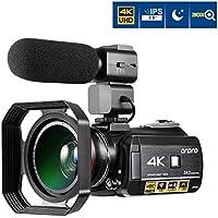 Videocamera 4K, ORDRO AC3 3.1 '' IPS Touch Screen Videocamera Ultra HD WIFI IR Camera