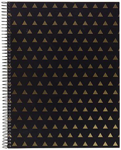 miquelrius-2803-notebook-a4-landscape-black-triangulos-golden