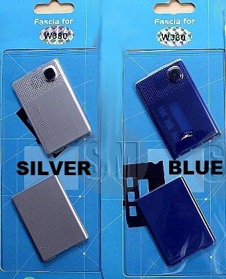 Neue Ersatz Silber- Fascia Abdeckung vorne und hinten Gehäuse für SONY ERICSSON W380 Handy (Silver) -