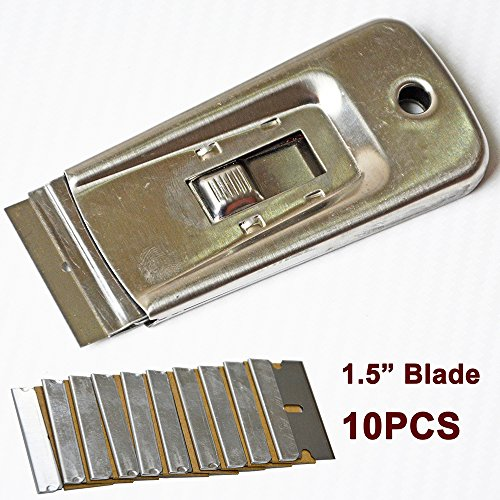 ehdisr-window-film-strumento-di-acciaio-retrattile-lametta-raschietto-con-10-lame-per-la-rimozione-v