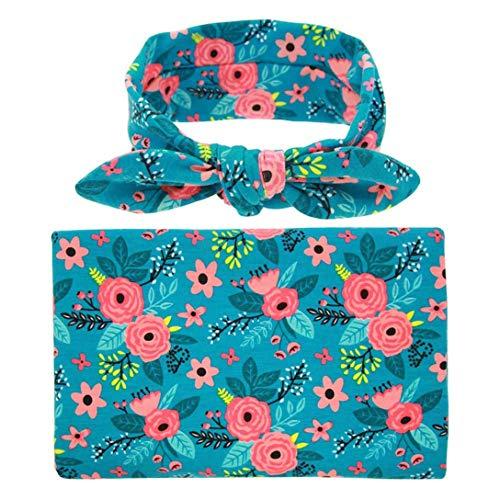 Jingranyou New Trend Newborn Swaddle Blanket Baby Boys Sleeping Bag Wrap(None Blue flower) (Overhead Bag)