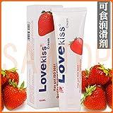 Love Kiss strawberry cream anal sex lubricant 100ml oral lube vaginal lubrication silk