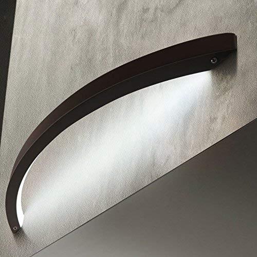 MONFS Home Étude de Salon créatif Design Lampe Chambre Lampe de Chevet Simple personnalité Moderne Miroir phares, Blanc, Longueur 60cm (Color : Black)
