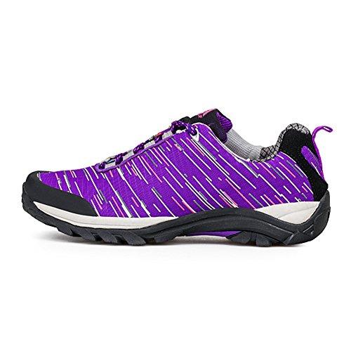 chaussures randonnée pédestre Belles Derbies Nouvelles Hiver Sneakers Hommes Violet