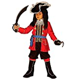 Widmann wdm33496–Kostüm für Kinder Kapitän Pirat (128cm/5–7Jahren), Rot, XXS