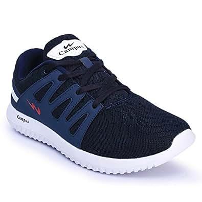 Campus Men's Navy Blue Mesh Running Shoes - 7