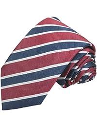 Paul Malone corbata de seda (longitud normal, extra larga o estrecha) rojo floral paisley