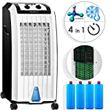 KESSER® 4in1 Mobile Klimaanlage | Klimagerät | Ventilator Klimaanlage | 7 L Tank Timer 3 Stufen | Ionisator Luftbefeuchter | Luftkühler | Schwarz/Weiß