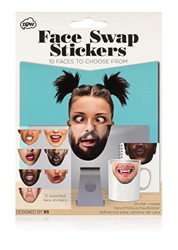 NPW Funny Face Maske Aufkleber–Face Swap -