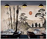 Apoart 3D Papier Peint Mur D'Outillage Chinois Ukiyo-E Forest Samurai Restaurant 200Cmx140Cm