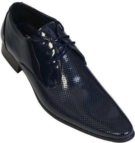 Voeut , Chaussures de ville à lacets pour homme Bleu - Bleu marine