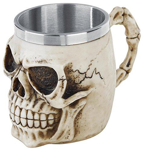 Nemesis Now Grinning skull tankard Boccale birra panna