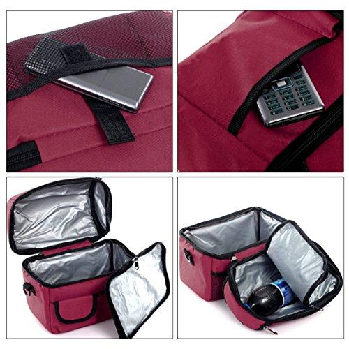 GERMER 8 L Pranzo Al Sacco Di Grande Capacità Per Isolato Fresco Borsa Lunchbox Con Tracolla Regolabile,Bigred winered