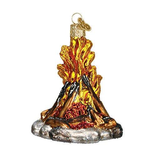 Old World Weihnachten Camping Glas geblasen Ornament Campfire