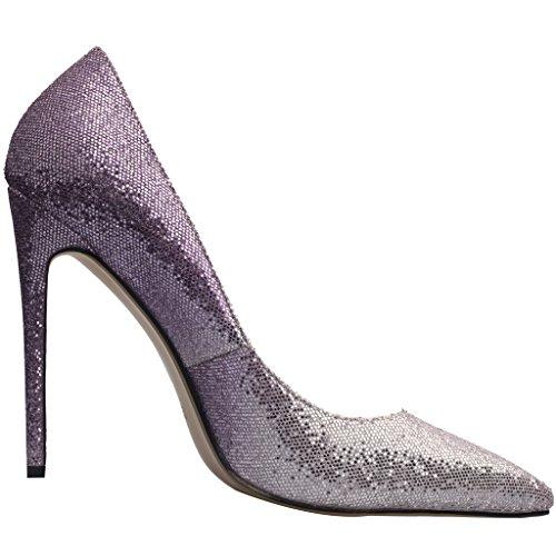 Calaier Damen Caelse 12CM Stiletto Schlüpfen Pumps Schuhe Lila Steigung