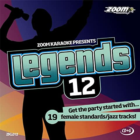 Zoom Karaoke CD+G - Legends Volume 12 - 19 Female Standards/Jazz Tracks [Card Wallet]