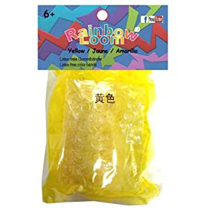 Official Rainbow Loom 600 Yellow Jelly Refill Bands w/ C Clips