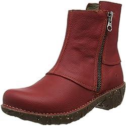El Naturalista NE28 Soft Grain Tibet / Yggdrasil, Botas Efecto Arrugado para Mujer, Rojo (Tibet N81), 40 EU