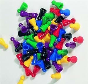 60er-Set Halmakegel aus Kunststoff (25 mm), farblich gemischt