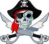 Stickersnews - Stickers muraux enfant Pirate hauteur 30cm réf 3536...
