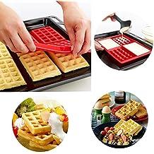 aliciashouse 4-cavity Mini gofres para tarta Chocolate sartén de silicona DIY bandeja molde molde